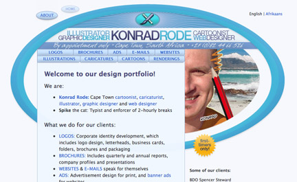 Example of website design
